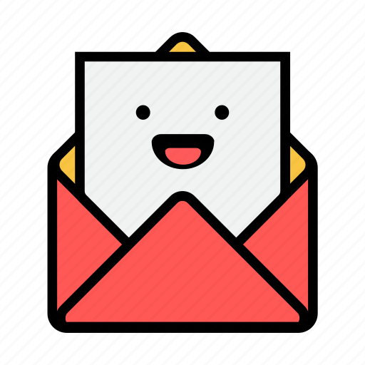 envelope, laughing, letter, mail, message, news, newsletter icon