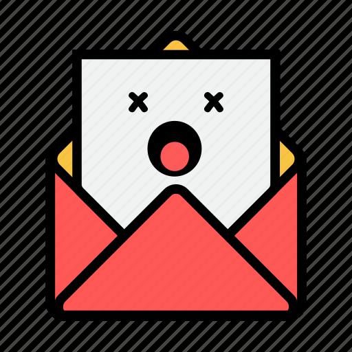 dead, envelope, letter, mail, message, news, newsletter icon