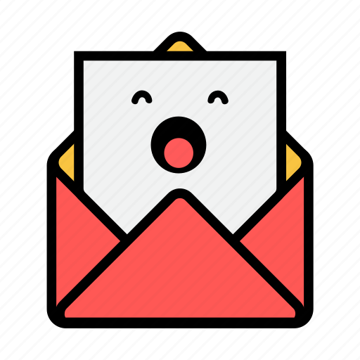 envelope, letter, mail, message, news, newsletter, sleepy icon