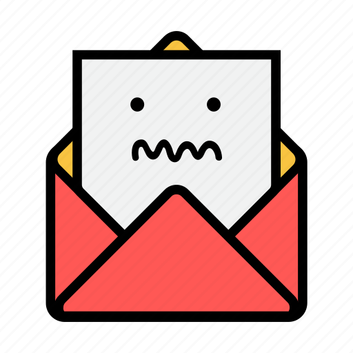 envelope, letter, mail, message, news, newsletter, ugly icon