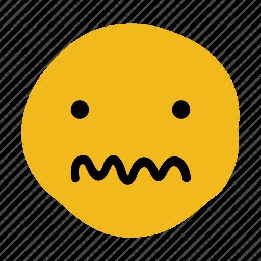 confused, doodle, emoticon, expression, puzzled icon