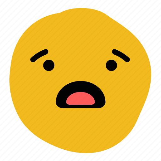 awe, confused, doodle, emoticon, expression, shocked, surprised icon