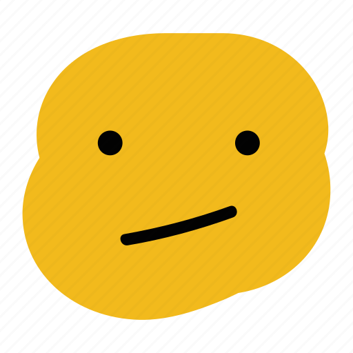 confused, doodle, emoticon, expression, face, poker, straight icon