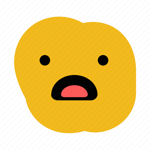 doodle, emoticon, expression, shocked, surprise, what icon