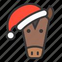animal, avatar, christmas, farm, hat, horse, xmas