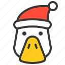 animal, avatar, christmas, duck, farm, hat, xmas icon