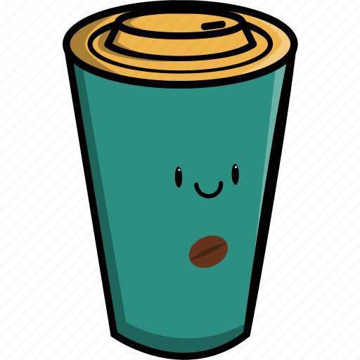beverage, coffee, cup, cute, drink, hot, warm icon