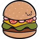 burger, cooking, fast, fast food, food, hamburger, patty icon