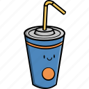 beverage, cold, cup, drink, food, juice, soda icon