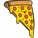 beef, cheese, cute, fast food, food, meet, pizza icon