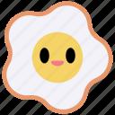 fried egg, egg, sunny side up, food