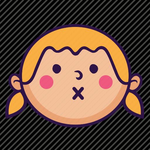 chubby, cute, fat, girl, kid, smile icon