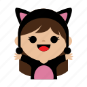 cat, child, costum, cute, girl, kids, sweet icon