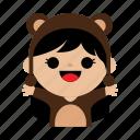 bear, child, costum, cute, girl, kids, sweet icon