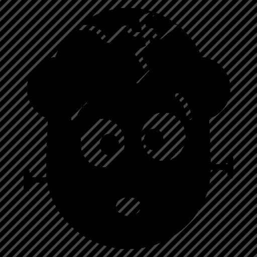 cartoon, cute, emoji, frankenstein, halloween, monster icon