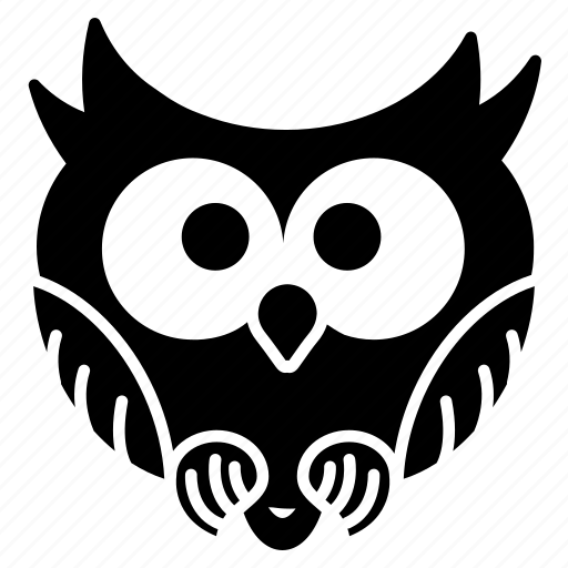 Bird, funny owl, halloween, owl, spooky, tiny icon - Download on Iconfinder