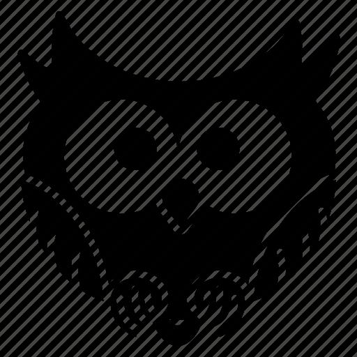 bird, funny owl, halloween, owl, spooky, tiny icon