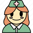 nurse, woman, avatar, medical, health