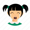 cry, kid, pigtails icon