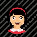 hair, kid, short, smile icon