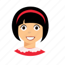 hair, kid, short, smile icon