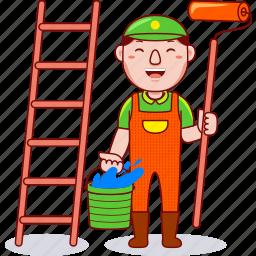 painter, worker, job, professional, people, work, male