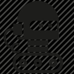 android, cyborg, humanoid, mascot, robot, robotic, wheel icon