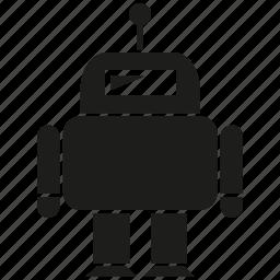 android, cyborg, humanoid, mascot, program, robot, robotic icon