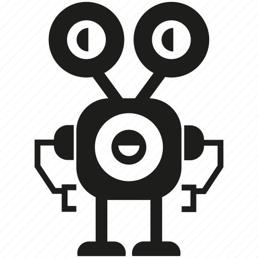 android, cyborg, humanoid, mascot, monster, robot, robotic icon