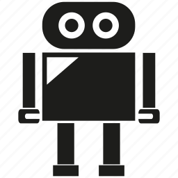 android, cute, cyborg, humanoid, mascot, robot, robotic icon