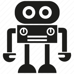 android, cartoon, cyborg, mascot, monster, robot, robotic icon