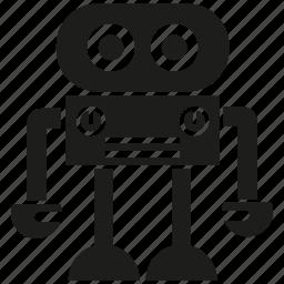 android, cartoon, cyborg, mascot, monster, robot, robotic icon