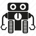android, cyborg, humanoid, mascot, program, robot, robotic icon