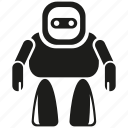 android, cartoon, cute, cyborg, mascot, robot, robotic icon