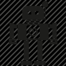 android, cartoon, cyborg, mascot, program, robot, robotic icon