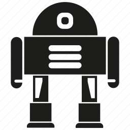 android, artificial intelligence, cartoon, cyborg, mascot, robot, robotic icon