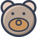 animal, bear, colored, round, zoo