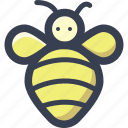 animal, bee, colored, round, zoo