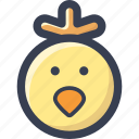 animal, chicken, colored, round, zoo