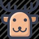 animal, colored, deer, round, zoo