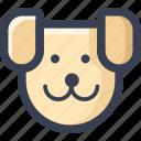 animal, colored, dog, round, zoo