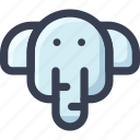 animal, colored, elephant, round, zoo