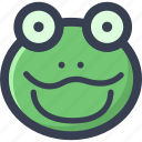 animal, colored, frog, round, zoo