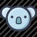 animal, colored, koala, round, zoo