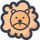 animal, colored, lion, round, zoo