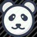 animal, colored, panda, round, zoo