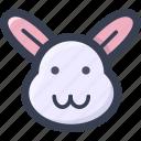 animal, colored, rabbit, round, zoo