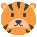 animal cartoon, animal face, cute tiger, tiger cartoon, tiger emoji, tiger emoticon, tiger face icon