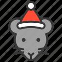 animal, avatar, christmas, party, rat, xmas