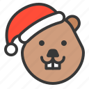 animal, avatar, bever, christmas, rodent, xmas
